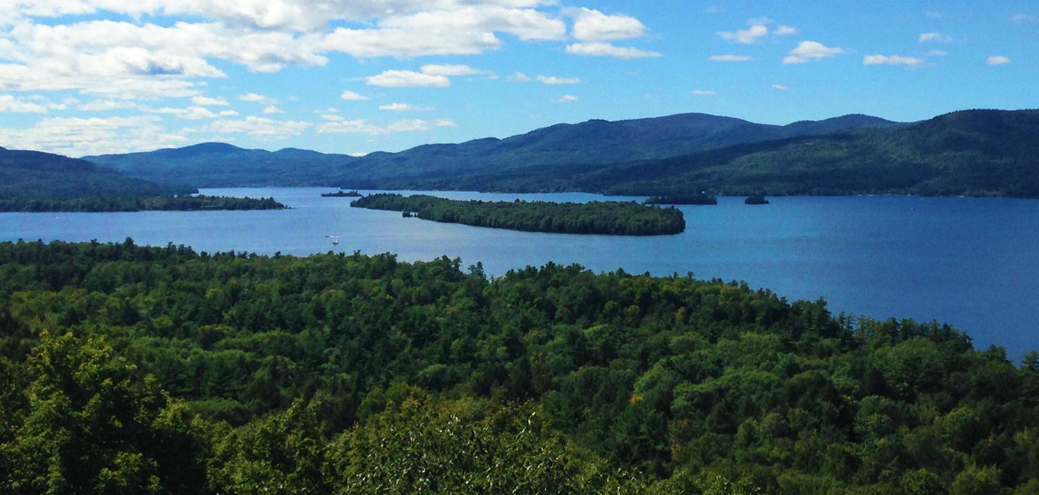 Picturesque view overlooking Lake George